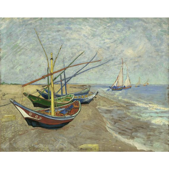 Fishing Boats on the Beach at Les Saintes-Maries-de-la-Mer - Book / Magazines / Flyer