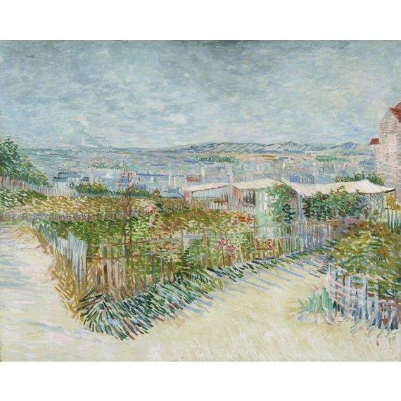 Montmartre: Behind the Moulin de la Galette - Card / A4 reproduction