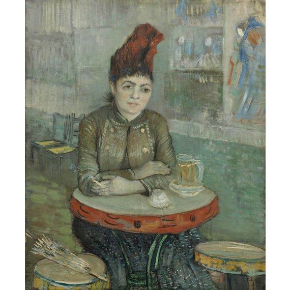 In the Café: Agostina Segatori in Le Tambourin - Card / A4 reproduction