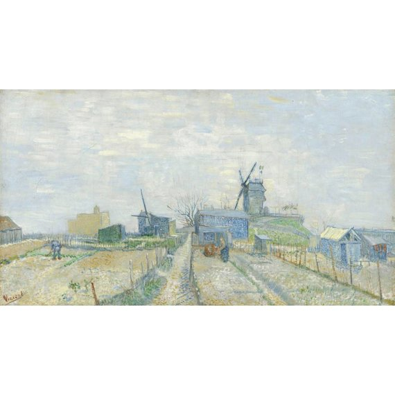 Montmartre: Windmills and Allotments - Card / A4 reproduction