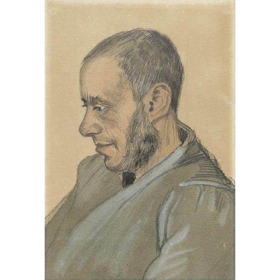 Portrait of Jozef Blok - Card / A4 reproduction