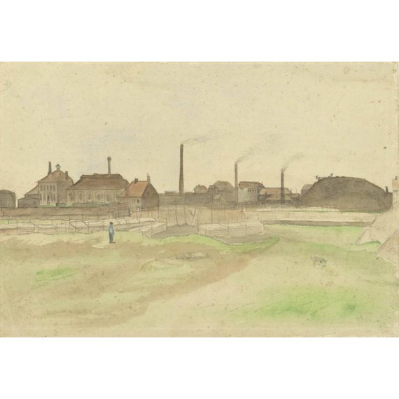 Coke Factory in the Borinage - Card / A4 reproduction