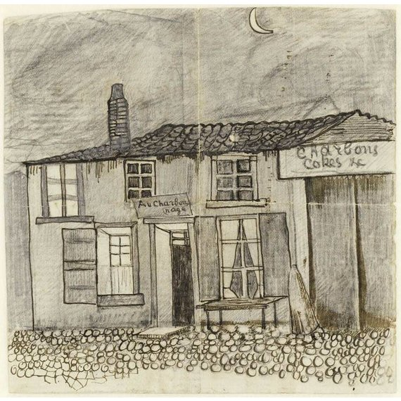 The 'Au Charbonnage' Café - Card / A4 reproduction