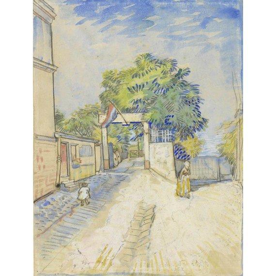 Entrance to the Moulin de la Galette - Book / Magazines / Flyer