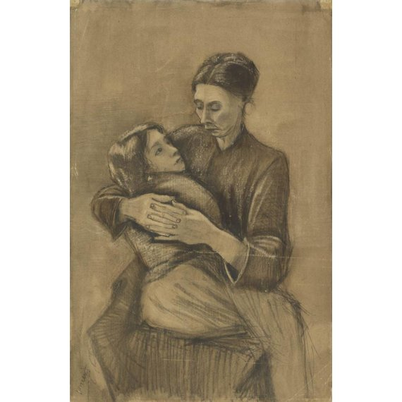 Woman with a Child on her Lap - Card / A4 reproduction