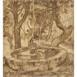 Fountain in the Garden of the Asylum