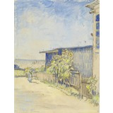 Shed with Sunflowers