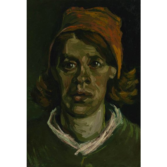 Head of a Woman - Card / A4 reproduction