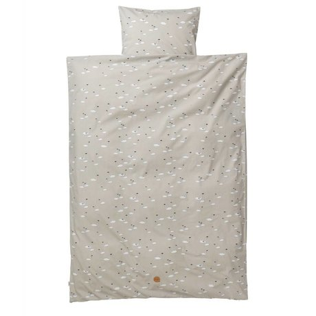 Ferm Living kids Swan Children's Well-gray cotton 110x140cm 46x60cm