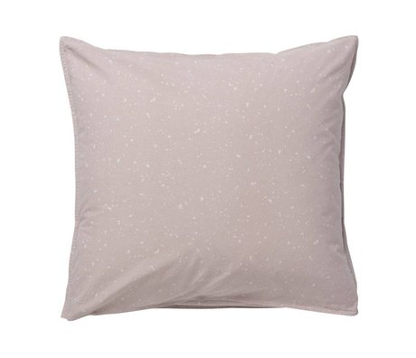Ferm Living kids Cushion Hush Milkyway light pink organic cotton 63x60cm