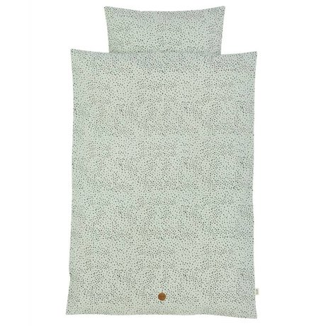 Ferm Living kids Children's Well-Dot mint green cotton 100x140cm 46x40cm