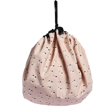 OYOY Bag Playsack pink organic cotton canvas 138cm