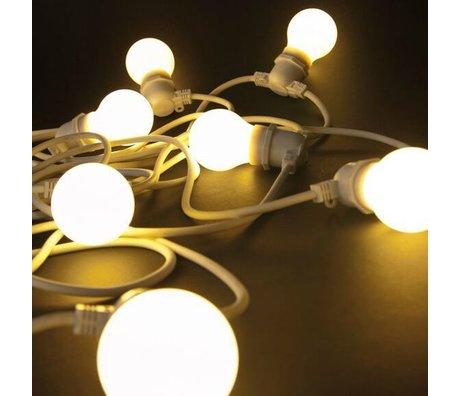 Seletti Licht ketting met 10 light bulbs rubber wit L14,2m