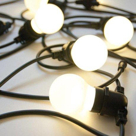 Seletti Licht ketting met 10 light bulbs rubber zwart L14,2m