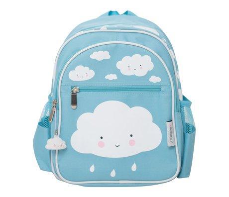 A Little Lovely Company Kinder rugzak Blue cloud 25x31,5x15,5cm