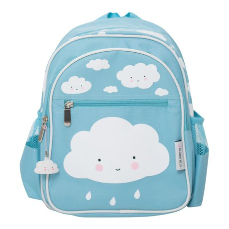 A Little Lovely Company Kids backpack Blue Cloud 25x31,5x15,5cm