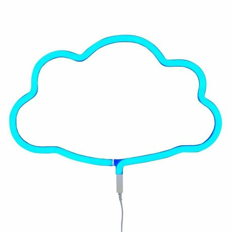 A Little Lovely Company Children wall lamp neon cloud blue plastic 38,5x24cm