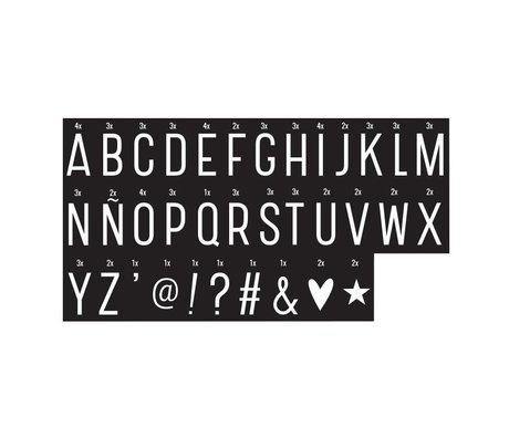 A Little Lovely Company Kinder letters Lightbox monochrome kunststof 6,5x3,5cm