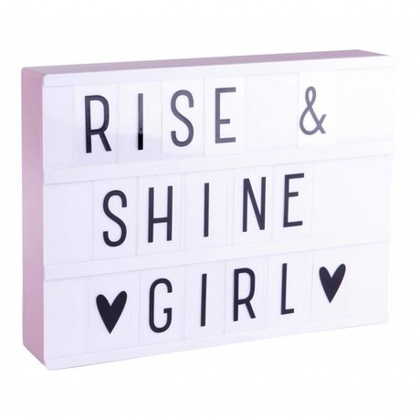 A Little Lovely Company Kinder lamp Lightbox A4 roze 21x29,7cm