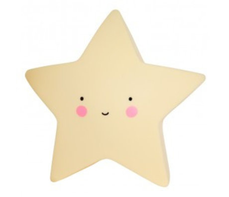 A Little Lovely Company Children's table lamp yellow Star 14,5x5,5x13,5cm