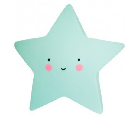A Little Lovely Company Children's table lamp Star mint 14,5x5,5x13,5cm