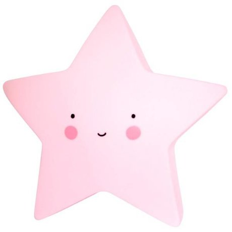 A Little Lovely Company Children's table lamp Star pink 14,5x5,5x13,5cm