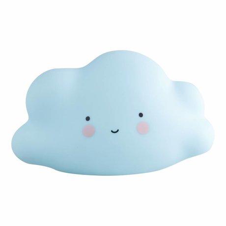 A Little Lovely Company Kinder lamp wolk blauw mini 16,5x9,5x8,5cm