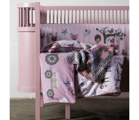 Sebra Meegroeibed Baby & Junior roze hout 112,5-155x70x88cm