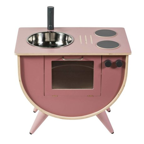 Sebra Toy kitchen pink wood 58x38x50cm