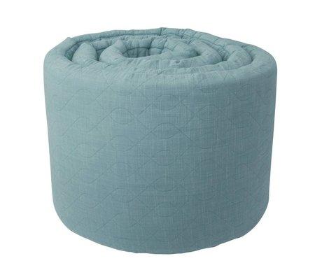 Sebra Baby bedbumper blauwe katoen 345x3,5x30cm