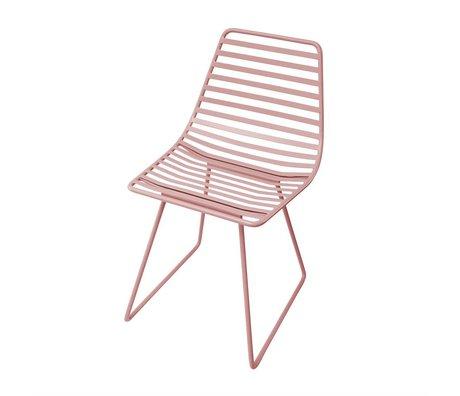 Sebra Highchair pink metal S 32x58x33cm