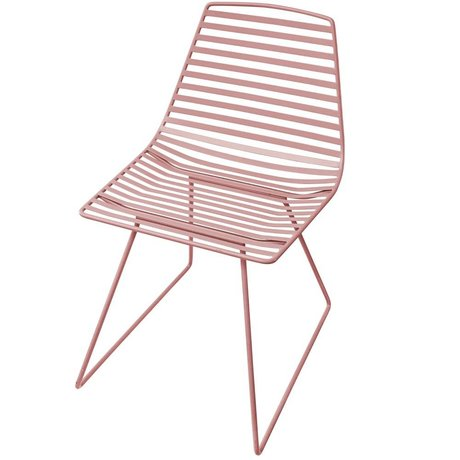 Sebra Chair pink metal L 47x82x48cm