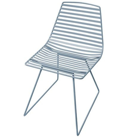 Sebra Chair blue metal L 47x82x48cm