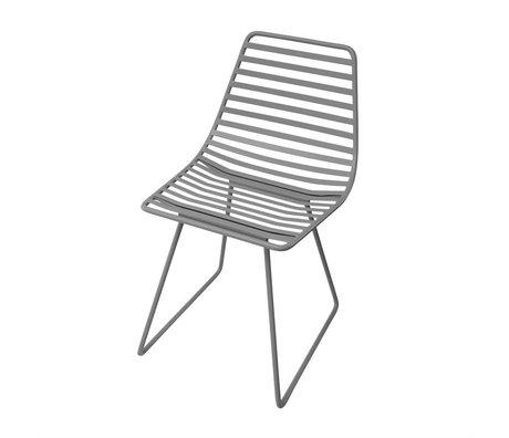 Sebra Highchair gray metal S 32x58x33cm
