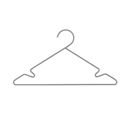 Sebra Children's clothing hanger 3 pieces gray metal 34x18cm