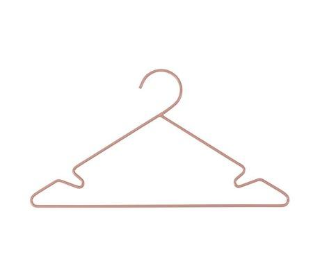 Sebra Kinderkledinghanger 3 stuks roze metaal 34x18cm