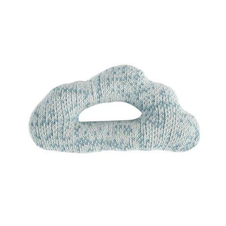 Sebra Rammelaar Cloud blauw katoen 12x7cm
