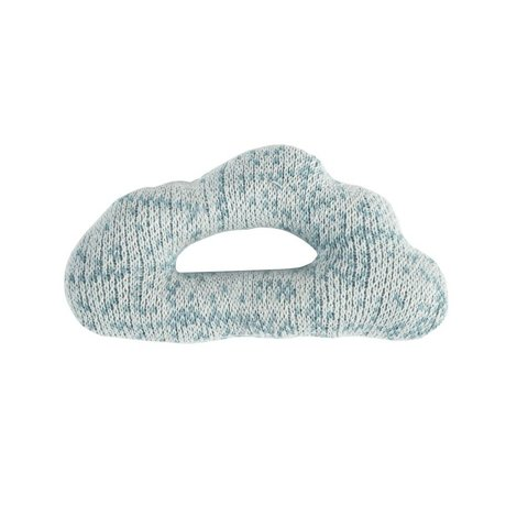 Sebra Rattle Cloud blue cotton 12x7cm