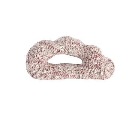 Sebra Rattle Cloud pink cotton 12x7cm