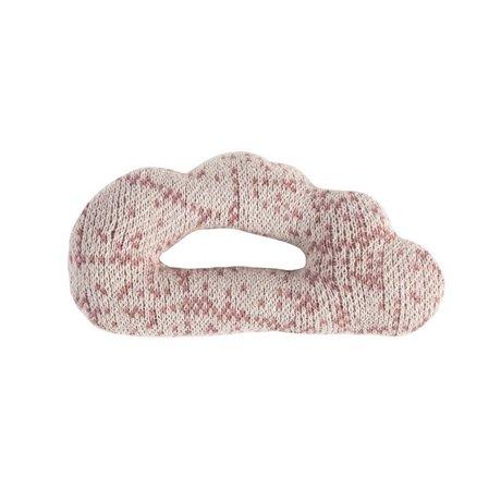 Sebra Rammelaar Cloud roze katoen 12x7cm