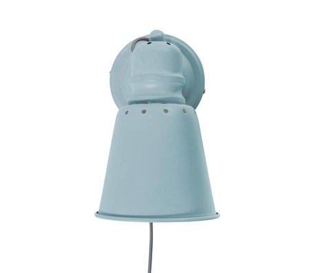 Sebra Wall light light blue metal Ø13cm