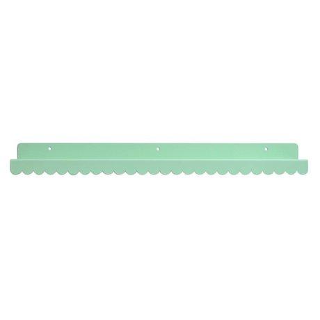 Eina Design Kinderwandplank mintgroen metaal 50x9cm