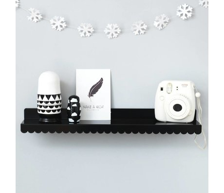 Eina Design Kids Wall shelf black metal 50x9cm