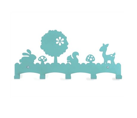 Eina Design Kinderkapstok Woodland blauw metaal 40x19cm