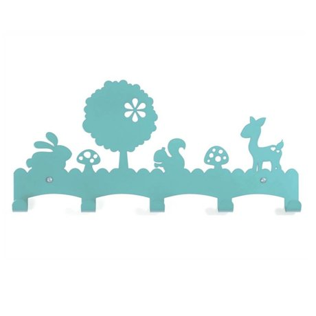 Eina Design Children's Coat Rack Woodland blue metal 40x19cm