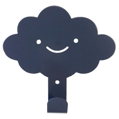 Eina Design Children's Wall Hook cloud anthracite gray metal 14x13cm