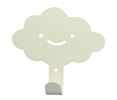 Eina Design Kinderwandhaak wolk wit metaal 14x13cm