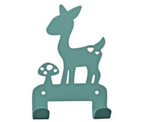 Eina Design Kids Wall Hook deer blue metal 19x10,5cm