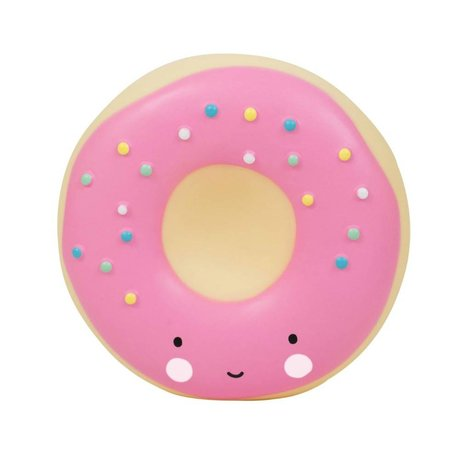A Little Lovely Company Piggy bank Donut pink plastic 14x6x14,5cm