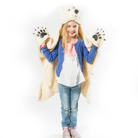 Wild & Soft Children's mood Polar bear white textile 101x126x20cm